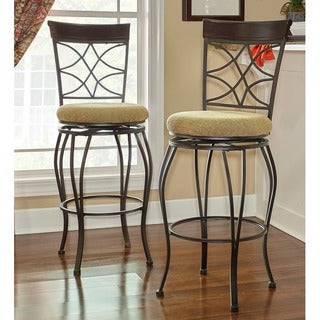 Curves Metallic Brown Counter-height Stool