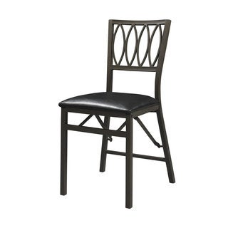 Linon Artista Ovals Folding Chair