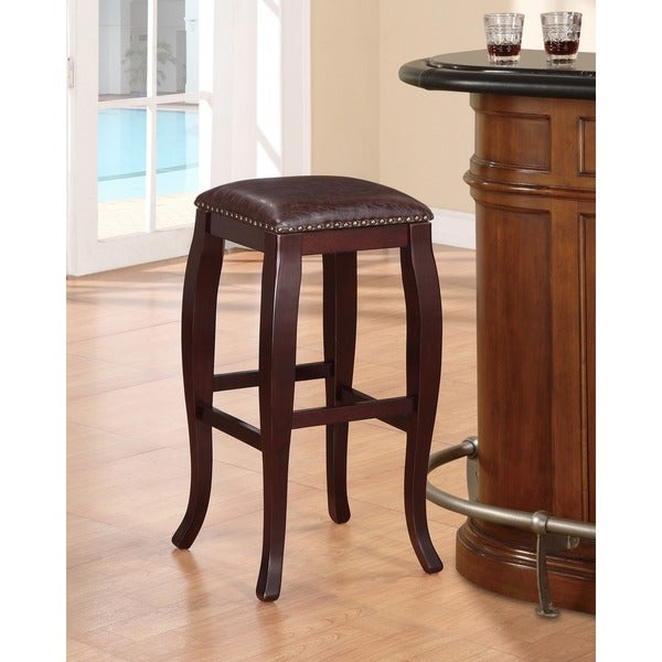 Linon San Francisco Brown Square Top Bar Stool 16464898