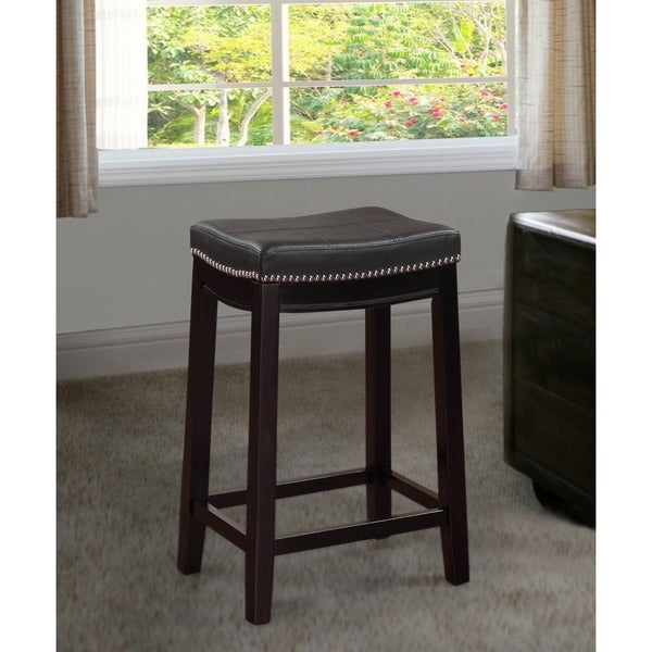 Oh Home Manhattanesque Backless Counter Stool With Black
