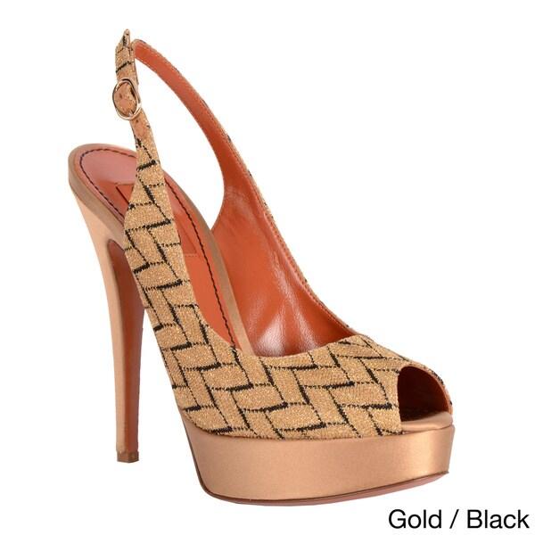 Missoni Women's Printed Peep-toe Slingback Sandals