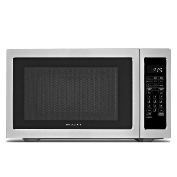 Countertop Microwave Stainless Steel Review : KitchenAid KCMC1575BSS Stainless Steel Countertop Microwave Oven ...