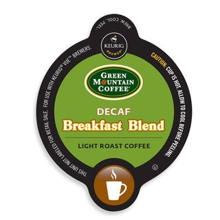 Green Mountain Coffee Breakfast Blend Decaf Coffee, Vue Cup Portion Pack for Keurig Vue Brewing Systems