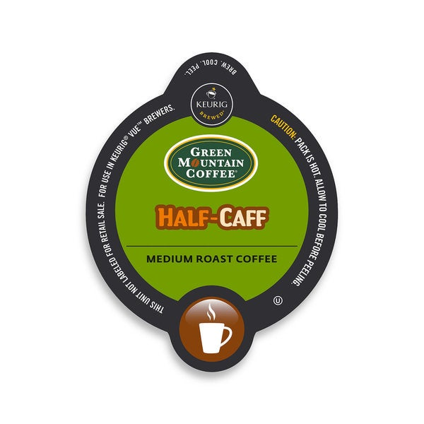 Green Mountain Coffee Half-Caff Coffee, Vue Cup Portion Pack for Keurig Vue Brewing Systems