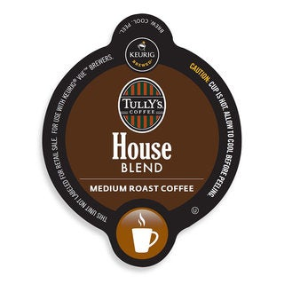 Tully's House Blend Coffee, Vue Cup Portion Pack for Keurig Vue Brewing Systems