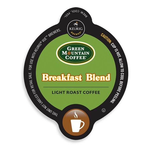 Green Mountain Coffee Breakfast Blend Coffee, Vue Cup Portion Pack for Keurig Vue Brewing Systems