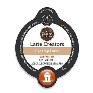 Cafe Escapes Latte Creator- Creamy Latte, K-Cup Portion Pack for Keurig Brewers
