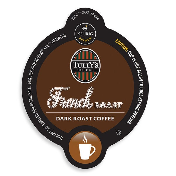 Tully's French Roast Coffee, Vue Cup Portion Pack for Keurig Vue Brewing Systems 13680496