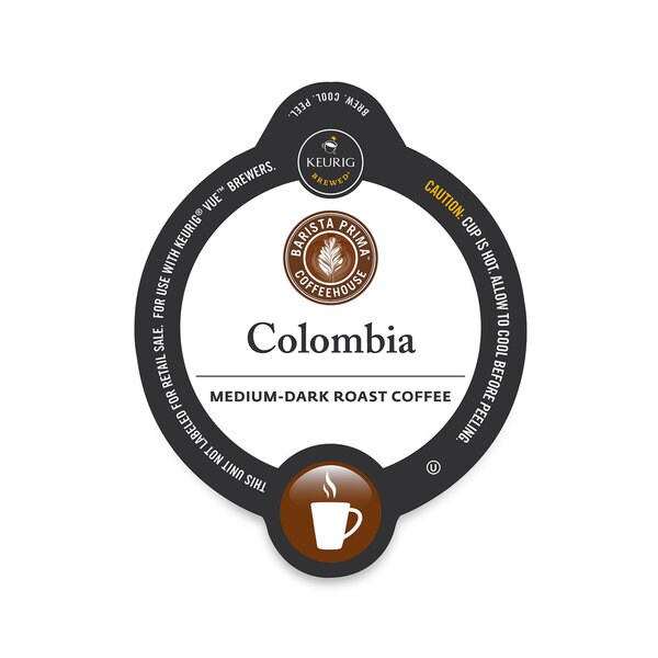 Barista Prima Coffeehouse Colombia Coffee Vue Cup Portion