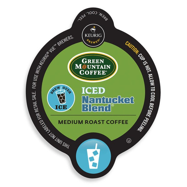 Green Mountain Coffee Iced Nantucket Blend, Vue Cup Portion Pack for Keurig Vue Brewing Systems