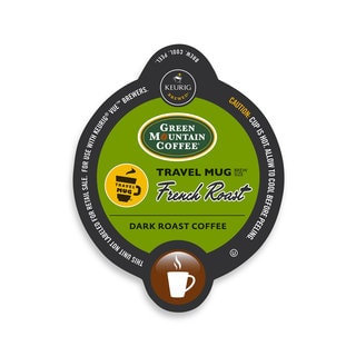 Green Mountain Coffee French Roast Coffee Travel Mug, Vue Cup Portion Pack for Keurig Vue Brewing Systems