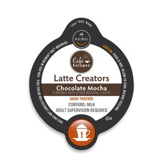 Cafe Escapes Latte Creator- Chocolate Mocha, K-Cup Portion Pack for Keurig Brewers