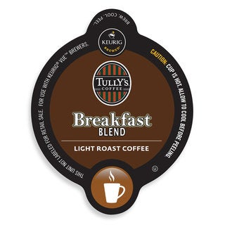 Tully's Breakfast Blend Coffee, Vue Cup Portion Pack for Keurig Vue Brewing Systems