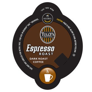 Tully's Espresso Blend Coffee, Vue Cup Portion Pack for Keurig Vue Brewing Systems