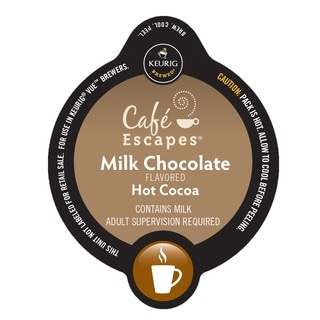 Cafe Escapes Milk Chocolate Hot Cocoa, Vue Cup Portion Pack for Keurig Vue Brewing Systems
