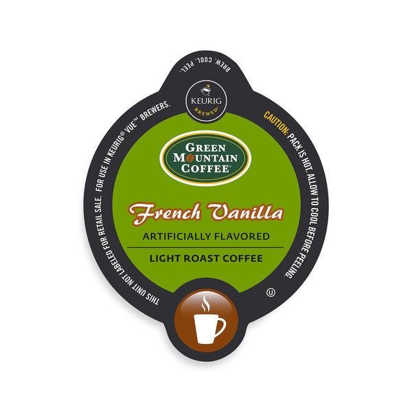 Green Mountain Coffee French Vanilla Coffee, Vue Cup Portion Pack for Keurig Vue Brewing Systems