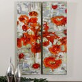 Scarlet Poppies Canvas Art Print Set