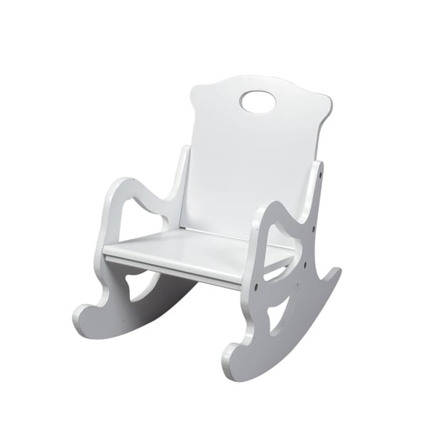 Gift Mark Home Resting Single Seat White Puzzle Rocker
