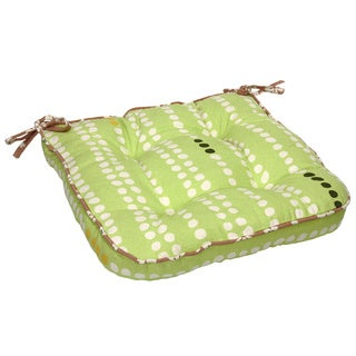 Green Dots Organic Cotton Seat Cushion (Set of 2)