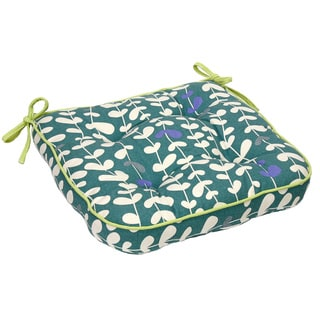 Blue Vines Organic Cotton Seat Cushion (Set of 2)