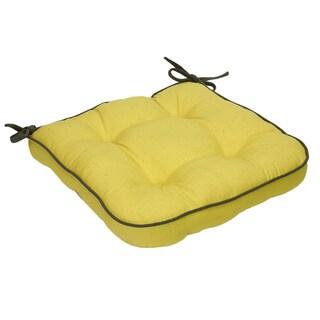 Yellow Organic Cotton Seat Cushion (Set of 2)