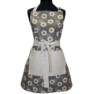 Adult Grey Poppies Butcher Apron