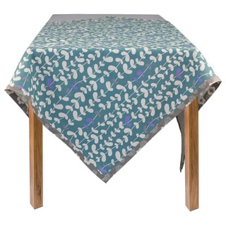 Blue Vines Organic Cotton Rectangle Tablecloth