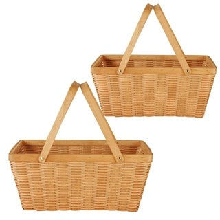 Wald Imports 16-inch Woodchip Basket (Set of 2)