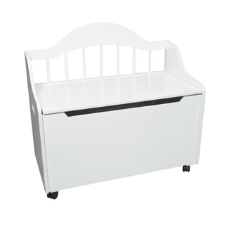 Gift Mark Home Kids Deacon Bench White Toy Chest