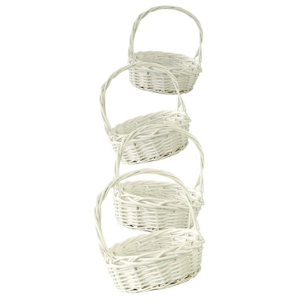 Wald Imports White Willow Baskets (Set of 4)