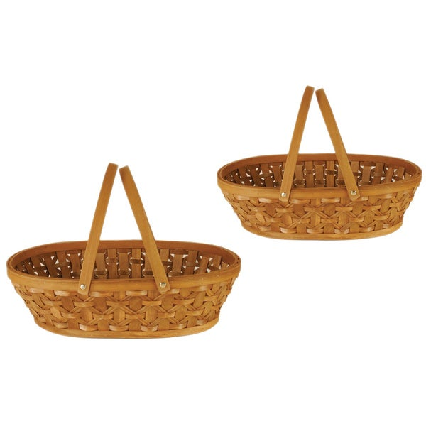 12-inch Woodchip Basket (Set of 2)