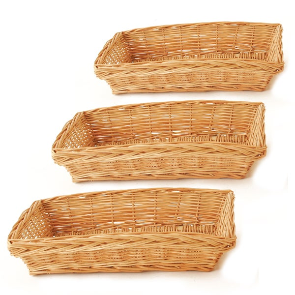 Wald Imports 13-inch Willow Tray (Set of 3)