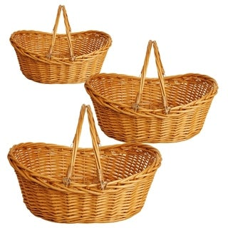 Wald Imports 19.5-inch Honey Brown Willow Basket (Set of 3)