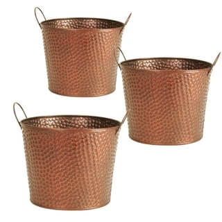 Wald Imports 7-inch Hammered Metal Pot Cover (Set of 3)