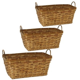 Wald Imports Double 6-inch Rattan Planter (Set of 3)