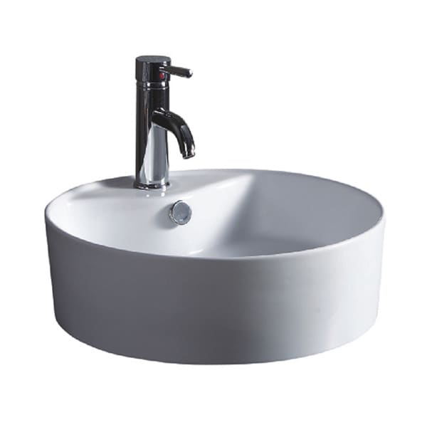 Wells Sinkware Round Vitreous White Ceramic Single Bowl Sink