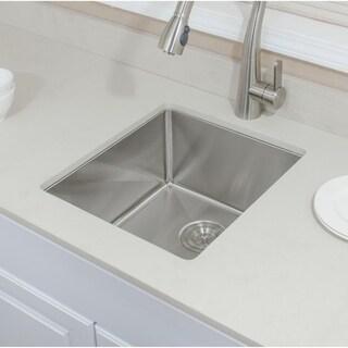 Wells Sinkware Handcrafted Single Bowl Undermount Stainless Steel Kitchen Sink