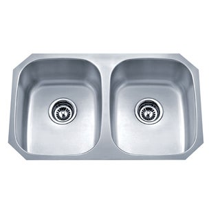 Wells Sinkware Undermount Double Bowl Stainless Steel Kitchen Sink