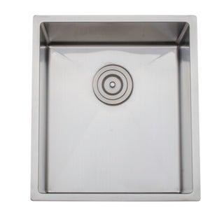 Wells Sinkware Undermount Single Bowl Stainless Steel Kitchen Sink