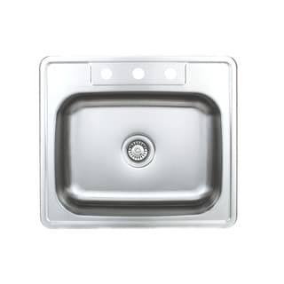 Wells Sinkware Topmount Single Bowl Stainless Steel Kitchen Sink