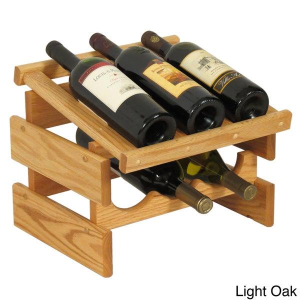 Dakota 6-bottle Stackable Wood Wine Rack