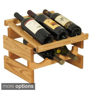 Dakota 6-bottle Stackable Wood Wine Rack