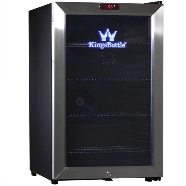 KingsBottle Stainless Steel 66-can Compressor Mini Bar Fridge