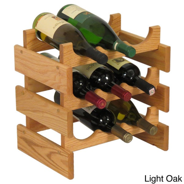 Dakota 9-bottle Stackable Wooden Wine Rack