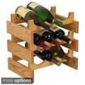 Dakota 9-bottle Stackable Wooden Wine Rack