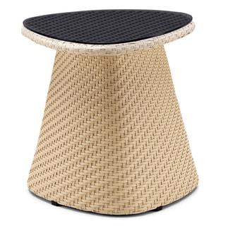 Beige Circular Coffee Table