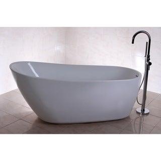 Fusion Freestanding 68-inch Acrylic Bathtub