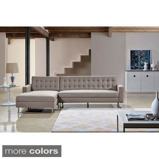 Dorris Fabric Contemporary Left Chaise Sectional Sofa set