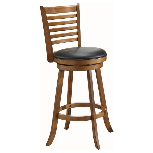 Whitaker Furniture Rustic Oak Pub Game Stools (Set of 2)