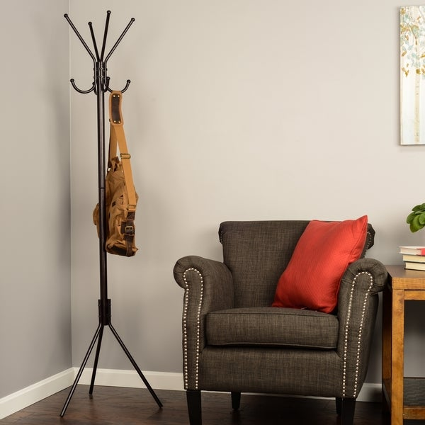 Classic 8-hook Metal Coat/ Hat Rack
